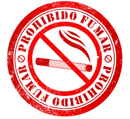 no smoking grunge stamp, in spanish language photo
