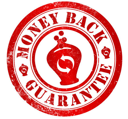 money back guarantee grunge stamp, in english language photo