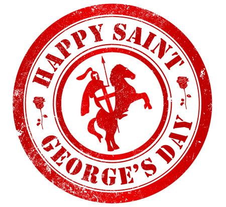 saint george: happy saint george Stock Photo