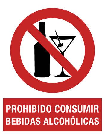 El consumo de alcohol está prohibido, en la lengua española Foto de archivo