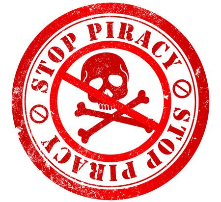 stop piracy: stop piracy grunge stamp, in english language Stock Photo