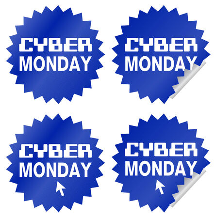 rebates: Ciber Lunes etiqueta o pegatina, en idioma Ingl�s