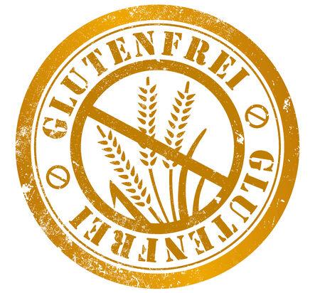 gluten free grunge stamp, in german language