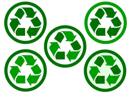 reciclable: recyclable and recycling icon Foto de archivo