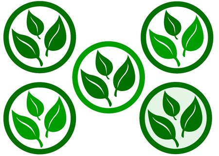 product icon: ecologic or natural product icon Stock Photo