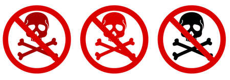 alertness: danger of dead or stop piracy icon
