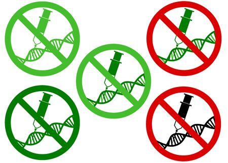 genetically modified organisms: GMO (genetically modified organisms) free  icon