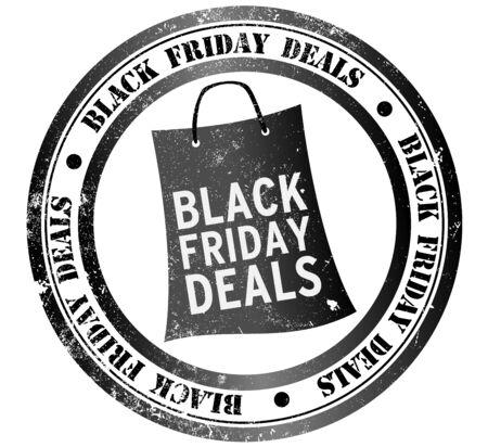 rebates: black friday deals grunge stamp, in english language