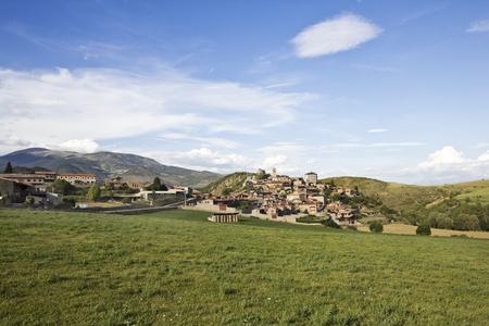 Montella, typical village mountain of Cerdanya, Catalonia (Spain) Stock Photo