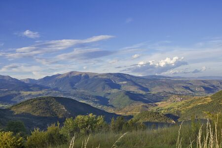 panoramic view from Cerdanya, pre-pyrenees, Catalonia (Spain)