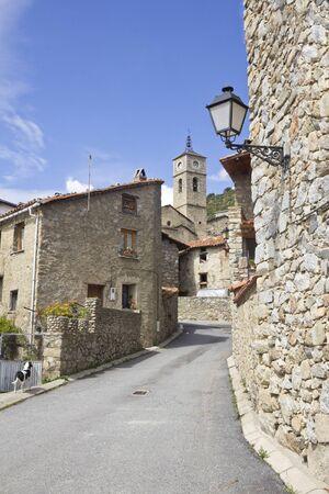 Aransa, typical village mountain of Cerdanya, Catalonia (Spain) Stock Photo
