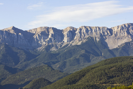 The Serra del Cadi is a mountain range in the north (Pre-Pyrenees) of Catalonia (Spain). Panoramic view from the cerdanya.
