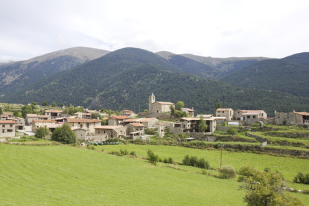 Viliella, typical village mountain of Cerdanya, Catalonia (Spain) Stock Photo