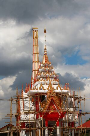 reconstruct: Reconstruct old pagoda in thailand temple