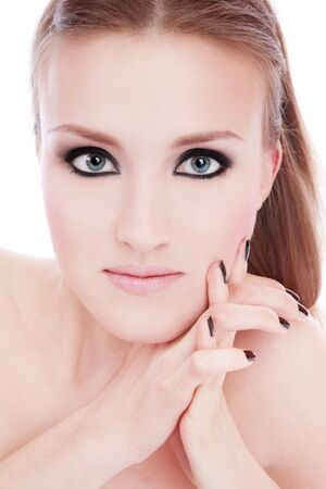 Portrait of beautiful young girl with smoky eyes Stock Photo - 3085804
