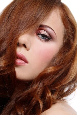 Close-up portrait of beautiful girl with gorgeous red hair Stock Photo - 4423784