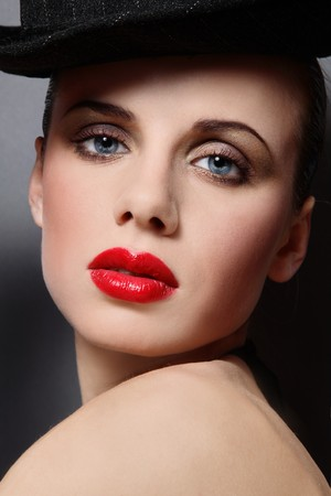 Close-up portrait of beautiful girl with stylish makeup Stock Photo - 4423765