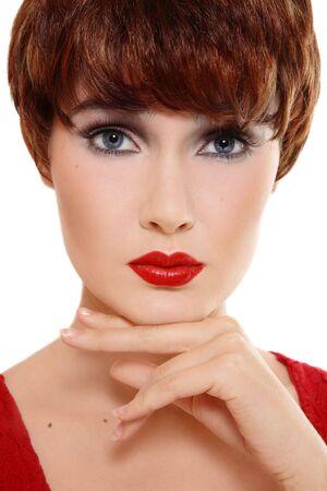 Portrait of beautiful stylish woman with thoughtful expression Stock Photo - 5518661