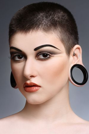 Young beautiful woman with stylish haircut and makeup Stock Photo - 5758514