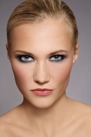 Portrait of beautiful stylish blonde girl with trendy make-up Stock Photo - 6108768