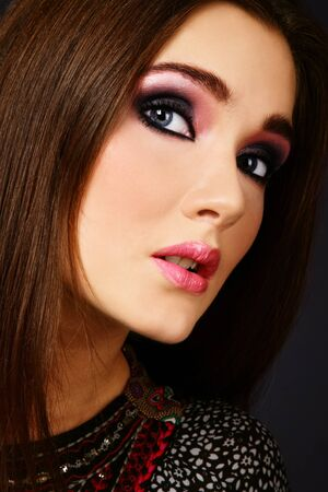 Portrait of beautiful stylish woman with stylish make-up Stock Photo - 7501280