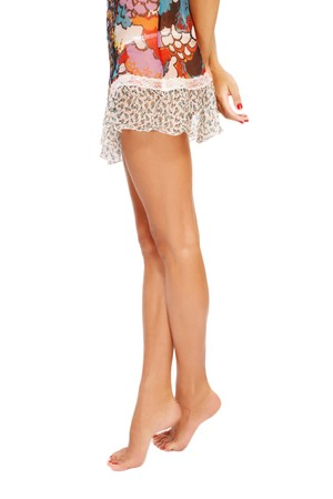 Long beautiful tanned slim legs of young sexy woman standing on tiptoes Stock Photo - 7716191