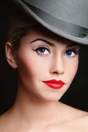 Portrait of young beautiful woman with stylish make-up Stock Photo - 8786136