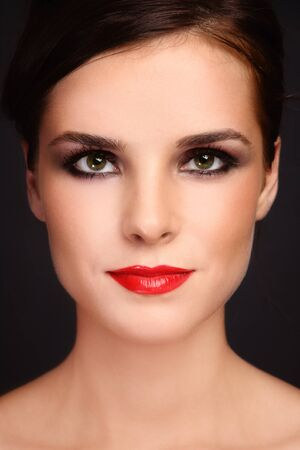 Portrait of young beautiful woman with trendy make-up Stock Photo - 9448489