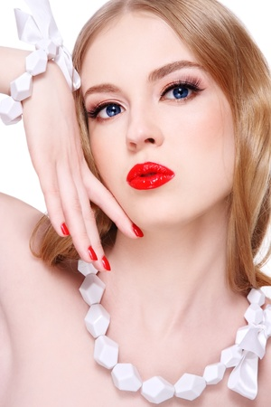 Young beautiful blond woman with glamorous make-up Stock Photo - 10486599