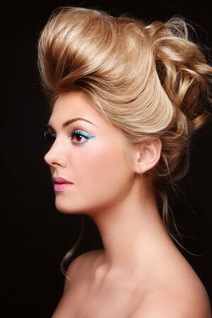 Portrait of young beautiful woman with stylish make-up and prom hairdo Stock Photo - 10882783