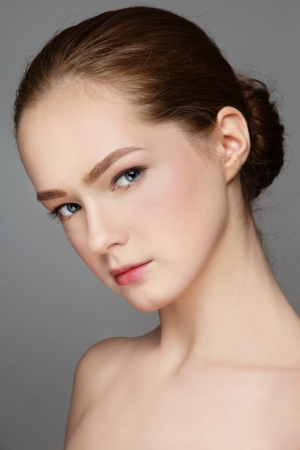 Portrait of beautiful fresh teen girl with clear make-up Stock Photo - 16711479