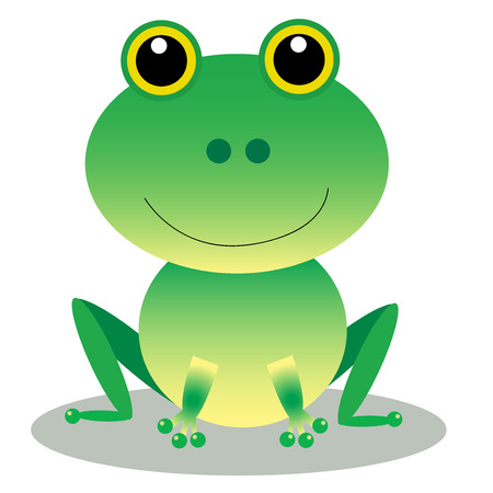 leapfrog: frogs, cartoon, green, cute, drawing, clipart Stock Photo