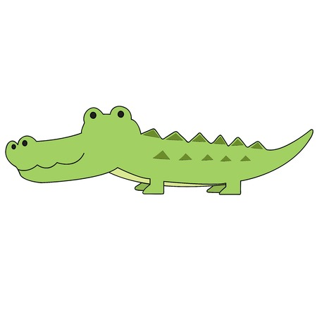 alligator cartoon vector.