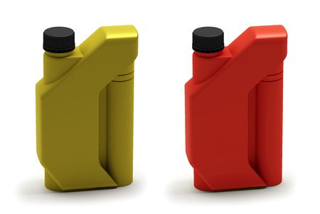 petrol can: Motor oil bottle, canister Stock Photo
