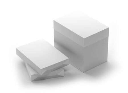 Paper Box. This image contains path for easy background removing.