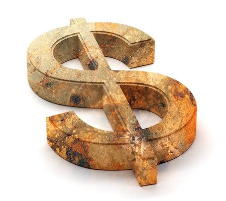 Dollar symbol. This image contains path for easy background removing.