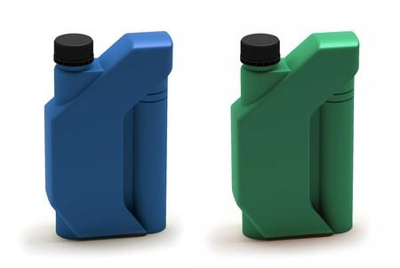 Motor oil bottle, canister Stock Photo