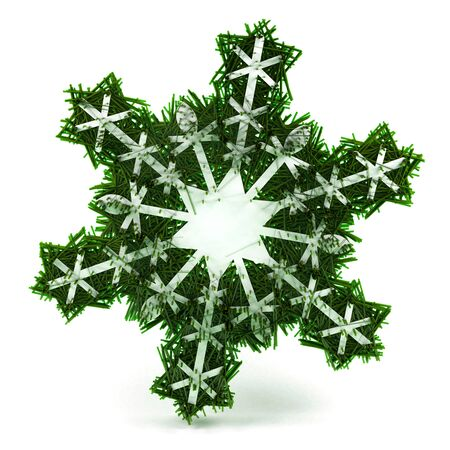 Snowflake. This image contains path for easy background removing