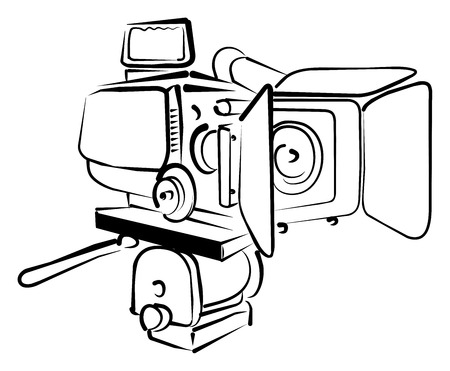 electronic survey: Vvideo camera Illustration