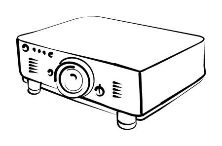 mensuration: Projecteur Illustration