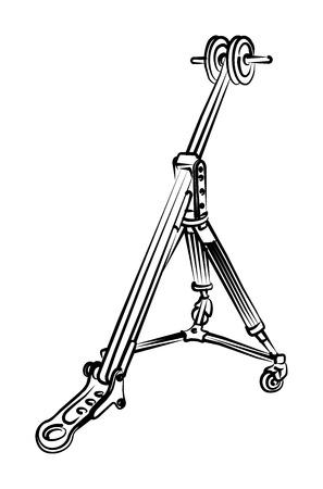 Tripod for video camera Stock Vector - 4345447