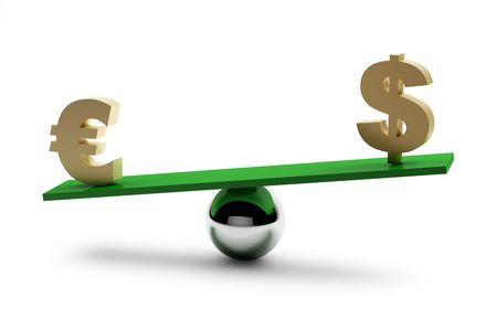 Balance of dollar and euro.