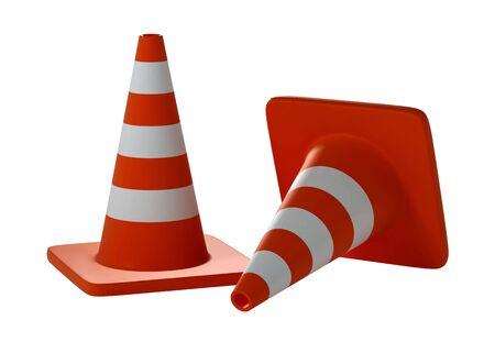 Road Cone over white background