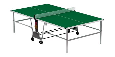 Table tennis on a white background, 3D render