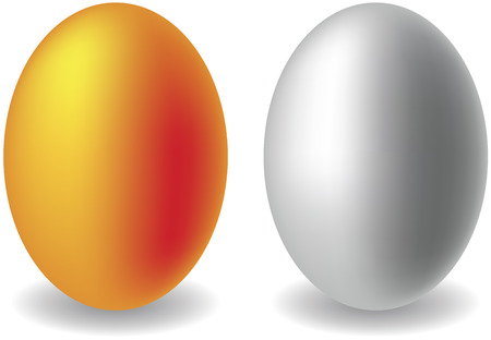 Gold and silver eggs Illustration