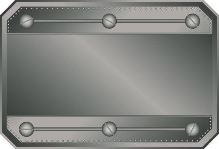 Empty metal plate Stock Vector - 7746397