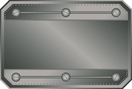 brushed steel: Empty metal plate