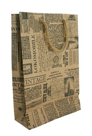 papel reciclado: Bolsas de papel Foto de archivo