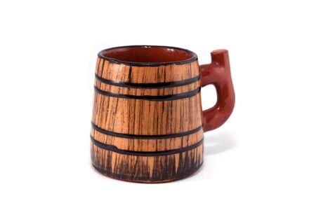 Old pub ceramic mug Stock Photo