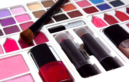 Professional make-up tools Stock Photo